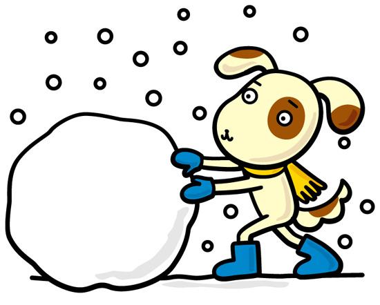 『園庭雪遊び』が始まりました。